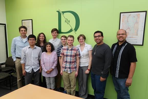From left to right: Jonathan Winter, Huanping Huang, Janel Hanrahan, Tania Bacchus, Kevin Ziegler, Harris Eidelman, Benjamin Frechette, Celia Fisher, Ilan Nieves, Jory Hecht