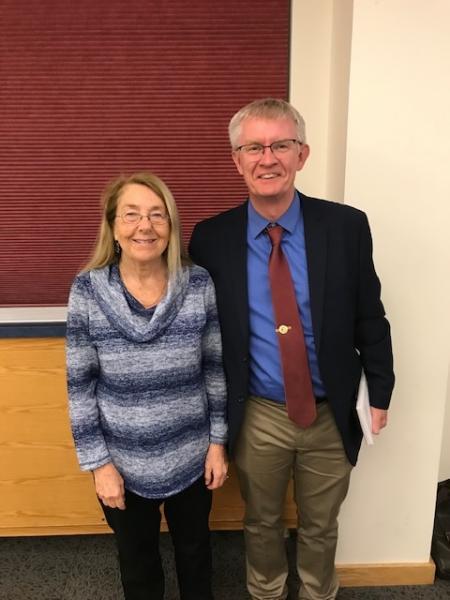 Judy Van Houten and Declan McCabe
